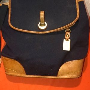 Dooney Bourke cloth Saddle leather Backpack
